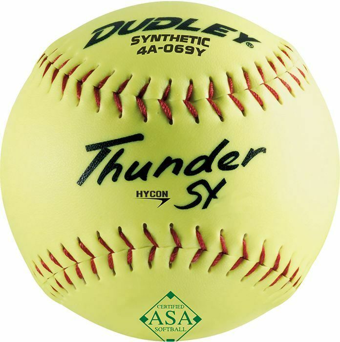 "Dudley 12"" Thunder SY Hycon ASA Synthetic Slowpitch Softball"