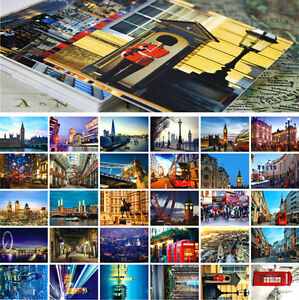 LOTS 30PCS London City View Postcard Street Travel Landscape Bulk Set UK England