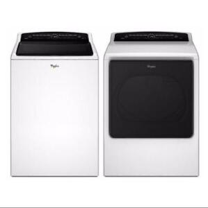 Combo laveuse-sécheuse Whirlpool Cabrio, Blanc, Showroom