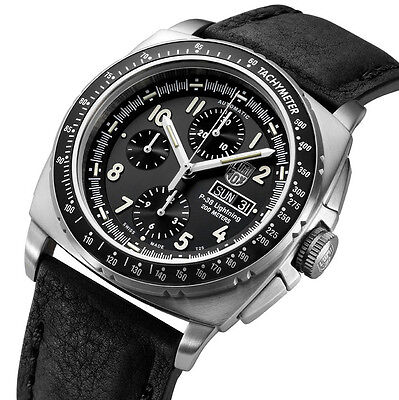 Luminox 9461 P-38 Lightning Swiss Automatic Valjoux 7750 Chronograph Watch for sale  Shipping to Canada