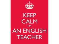 Tuition in English. Primary to Degree Level. Fully qualified and Experienced Teacher
