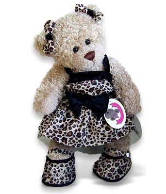 Leopard Teddies (Teddy Bears Clothes fit Build a Bear Teddies Leopard Print Dress 2 Bows (Shoes))