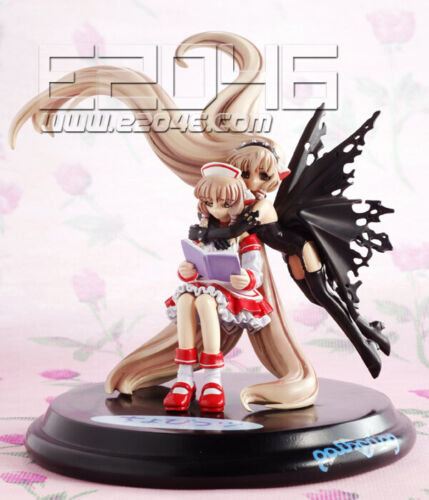 CLAMP Tsubasa Chronicle Chobits Chii and Dark Chii Reading(Resin cast) figure.