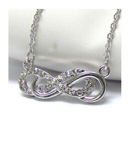 Infinity Eternity Love Forever Crystal Designer-Style Double Infinity Necklace