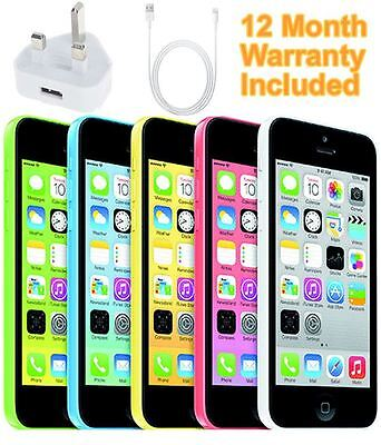 SELLER REFURBISHED APPLE IPHONE 5C 8GB 16GB 32GB WHITE BLUE GREEN PINK YELLOW UNLOCKED SMARTPHONE