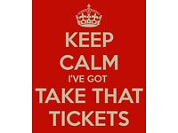 3 x take that tickets seated Glasgow 11th May