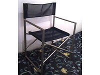BLUE DIRECTORS CHAIR, FOLDING (HEAVY DUTY) *******