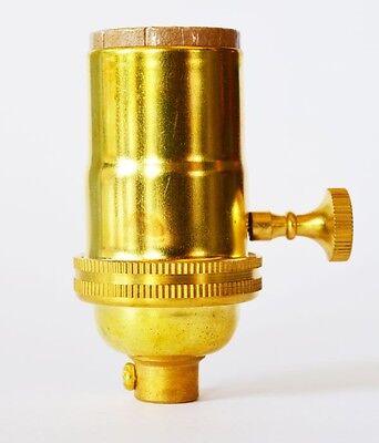 Unfinished Brass Lamp Socket - Light Socket - 3-Way Vintage Pendant - Copper -