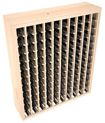 120 Bottle Cabinet-Style Wine Storage Rack Kit in Pine. Hand Crafted in the USA.
