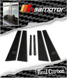 Real Carbon Fiber Door Pillar Panel Covers for Mitsubishi Evolution EVO 7 8 & 9