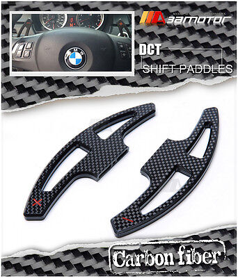 DCT Clutch Steering Wheel Carbon Fiber Paddle Shifter for E9x M3 E70 X5M E71 X6M