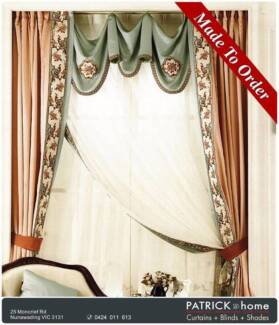 (No435)Curtains($18/m )+Lace MADE TO ORDER GOOD DESIGN