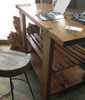 Solid wood Kitchen Island or Bar Table by Munro's Pine