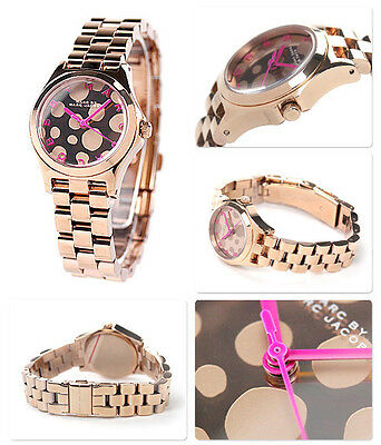 Marc Jacobs Women Small Henry Rose Gold Tone  Watch MBM3271 $250.00