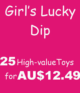 Bulk Lot 25 Girls Toys Lucky Dip Party Favors Bag Filler Pinata Fundraising Fete