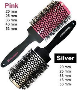 Denman-Squargonomics-Hair-Brush-Pink-or-Silver-5-Sizes-or-Set-of-5-Max-Vol