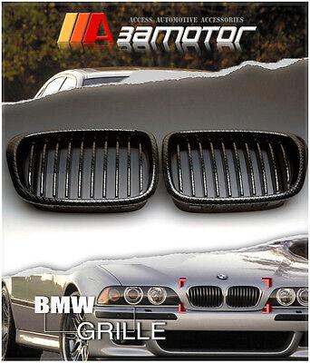 Carbon Look Front Kidney Grilles for BMW E39 5-Series 525i 528i 530i 540i M5