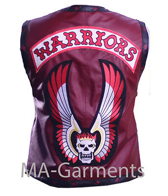 The Warriors Movie Leather Vest Halloween Costume in Maroon Color - High Quality