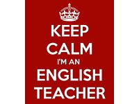 GTC registered English teacher available for tutoring