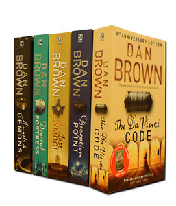 Dan Brown 5 Books Set Collection Including Best Seller (The Da Vinci Code, etc)