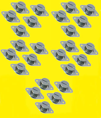 Quick Flush Head Self Ejecting Button Buttons 716 500in 25 pk Steel Dzus