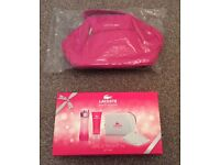 BNIB Lacoste Touch of Pink Gift Set and Vanity Bag