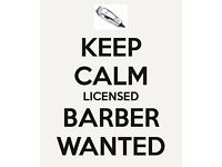 Barber Wanted/Required.