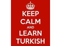 Turkish language tutor for just 10 gbp/hour