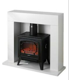 EGL Electric Fire Suite white new