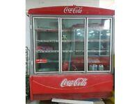 Coke drinks fridge 3 door display fridge
