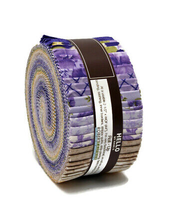 Jelly Roll Beckford Terrace Wisteria Purple Yellow 2.5