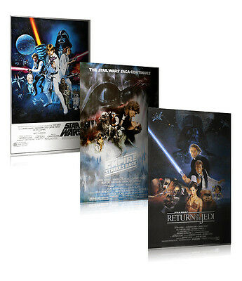 "STAR WARS: EPISODE IV, V & VI - 3 PIECE MOVIE POSTER / PRINT SET (27 X 40"")"