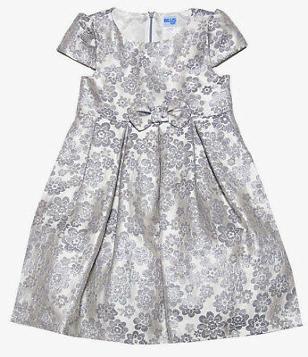 Luli & Me Girls Special Occasion and Party Dress Sizes 4, 6, 6X Silver