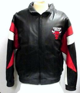 Pro Player Chicago Bulls Leather Basketball Jacket