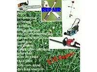 Repair petrol lawn mower, strimmer, chainsaw, hedge trimmer and more...
