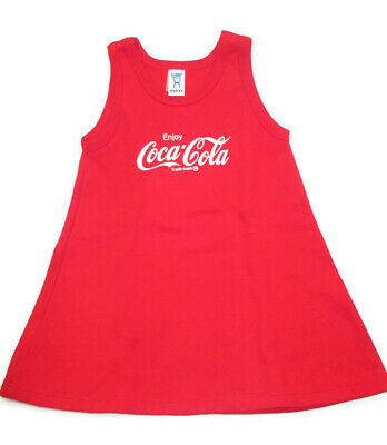 Coca-Cola Fleece A-Line Child's Sleeveless Dress Size 5/6  - BRAND NEW