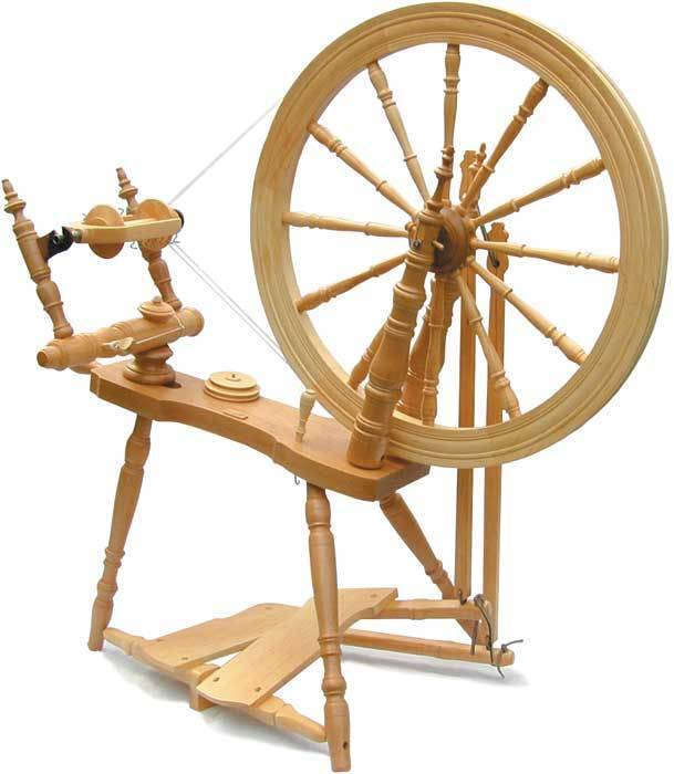 Kromski Symphony Clear Spinning Wheel W/Jumbo Flyer Kit BONUS Free Shipping B/O