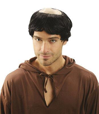 MÖNCH PERÜCKE GLATZE Priester Pfarrer Pater Kloster Kostüm - Glatze Kostüm