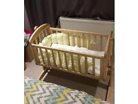 Mamas and Papas Crib - Oak