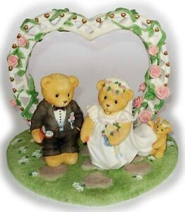 Cherished Teddies Wedding Cake topper Collector Set 3 pcs Enesco