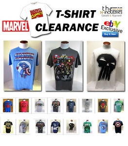 LOT-Marvel-Comics-Mens-T-Shirts-Clearance-Sale-Select-Legends-Action-Figures