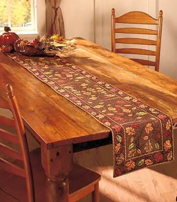 Autumn Leaves Table Runner (Decorative Table Runner Harvest Thanksgiving Leaves Fall Autumn Decor 13x72)