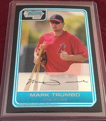 (Mark Trumbo 2006 1st Bowman Chrome RC # BC14, Baltimore Orioles Masher !!)
