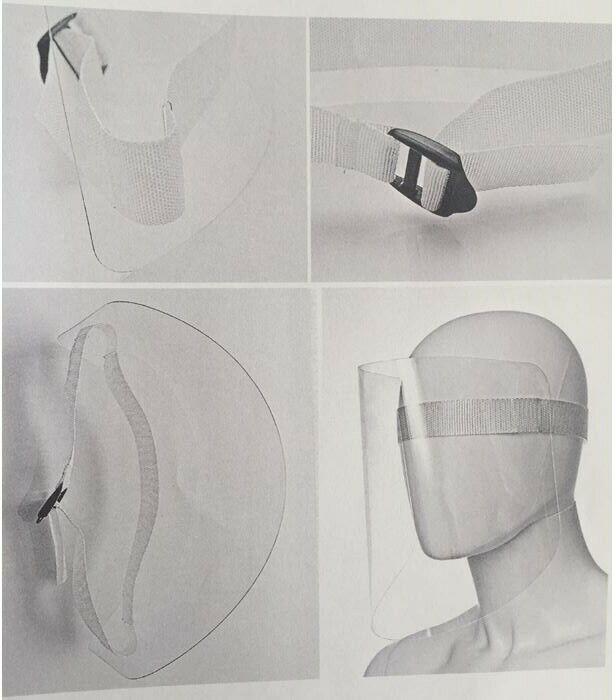 Gesichtsschutzschild Gesichtsschild Gesichtsschutz Visier Anti-Spuckmaske - EU