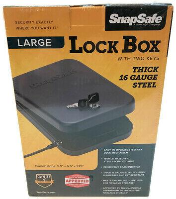 Hand Gun / Pistol Safe Lock Box Cash Jewelry Security Metal Portable Car Travel