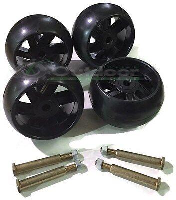 4 Pack Mower Deck Wheels Bolts 174873 133957 193406