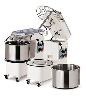 Spiral Dough Mixer 42 Lt 44 Qt - 38kgs 84 Lbs - With Timer - Made In Italy