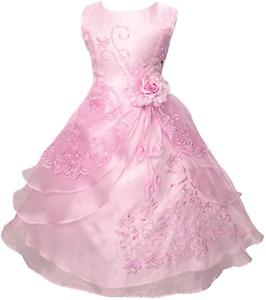Beautiful flower wedding dress for girls