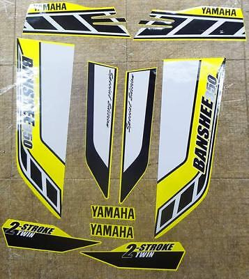 Yamaha Banshee Stickers Graphics Decals 10Pc Special Edition Bk Yellow White Atv