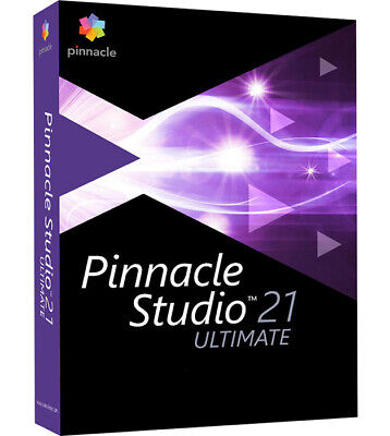 Pinnacle Studio 21 Ultimate - New Retail Box w/ DVD and Download - PNST21ULEFAM